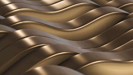3d rendern Goldlinienfelder vj Hintergrund Standard-Bild