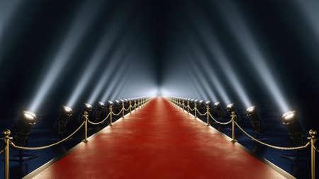 rode loper met volumelicht