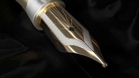 3d render Luxury Fountain Pen in 4k