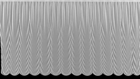 3d render White theater curtain in theater on black background Foto de archivo