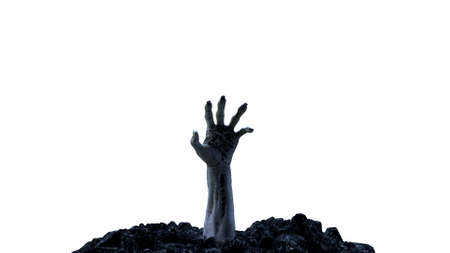3d render Zombie hand crawling out of the ground Stok Fotoğraf