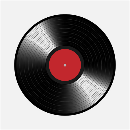 Vinyl-Schallplatten, realistisch Vinyl Design, alte Design