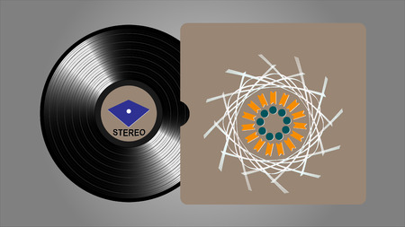 Vinyl records, realistic vinyl design, old design Illustration