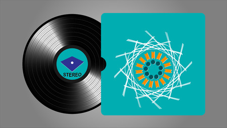 Vinyl records, realistic vinyl design, old design Illustration