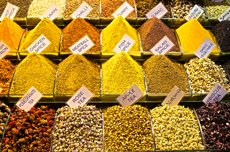 spice: Spices at the spice market in Istanbul Stock Photo