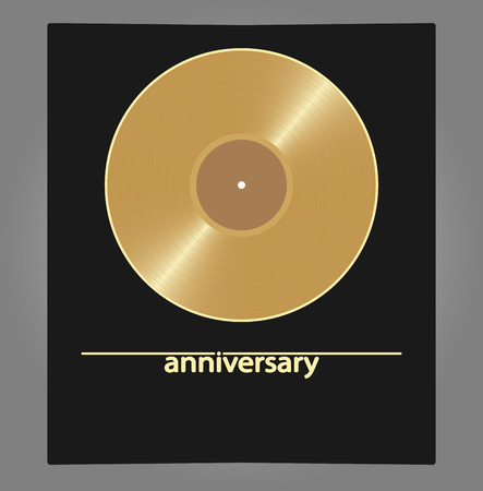 disk jockey: Blank golden vinyl