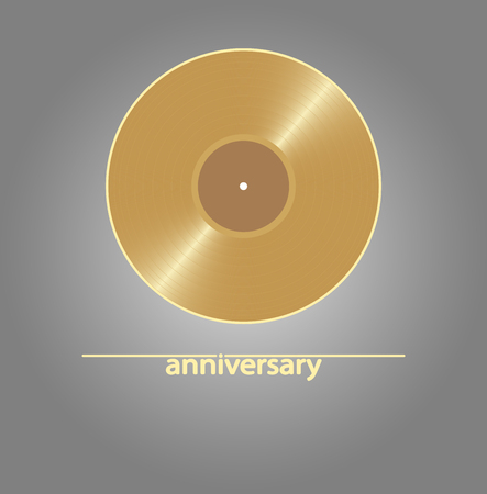 Blank golden vinyl