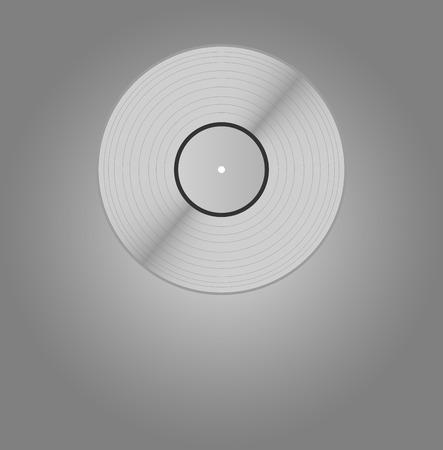 platinum: Blank platinum vinyl, silver vinyl