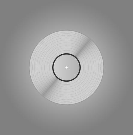 Vinyle de platine Blank, vinyle argent Banque d'images - 68024608