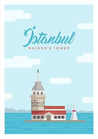 maiden: Istanbuls maiden tower Illustration
