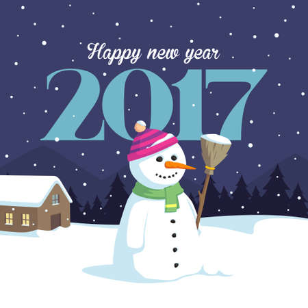 snowmen happy new year 2017