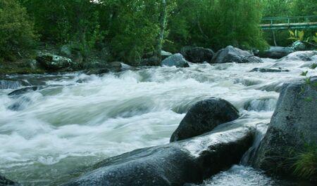 altay: Altay river called Ilgumen Stock Photo