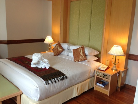 pillows: Deluxe room