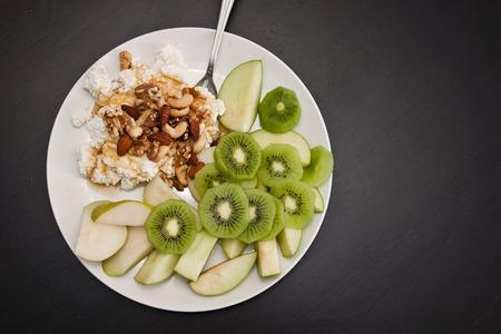 vibrant cottage: healthy breakfast Stock Photo