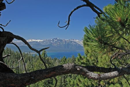 south lake tahoe: Beautiful view of South Lake Tahoe in USA