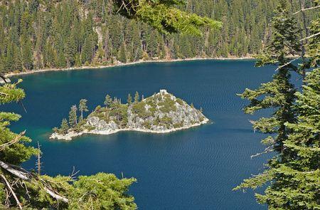 fannette: Fannette Island in Emerald Bay at Lake Tahoe.