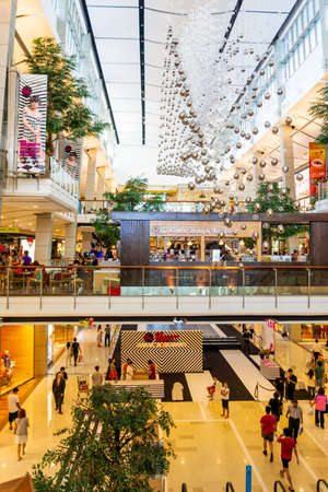 Modern interior of Siam Shopping Mall. Siam is one of the most popular shopping centres in Bangkok