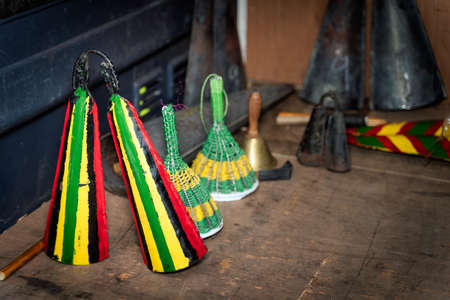Homemade Ogene or Oghene, Agogo Gong and Gonkoque Gong are tribal or cultural instruments in the Omambala River basin of the Igboland in Nigeria