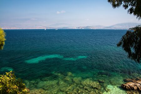 Beautiful sea view on Corfu Island