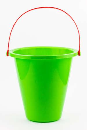 A green sand bucket