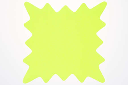 A blank yellow star shaped sign usually used to advertise sales and specials isolated on white  版權商用圖片