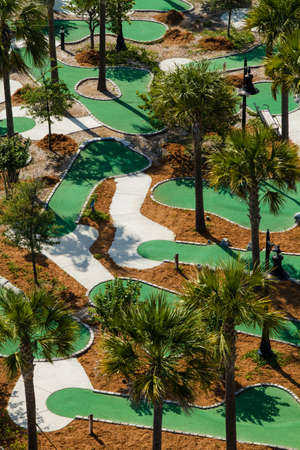 An aerial view of the Neptune Park miniature golf course located on St  Simons Island, Georgia