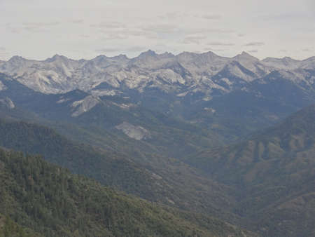 view from Moro Rock, Sequoia National Park,