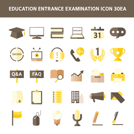 admissions: Education icon set Illustration