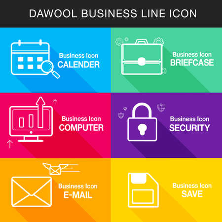 backstop: Business line Icon set