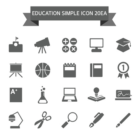 highschool: Education Icon set Illustration