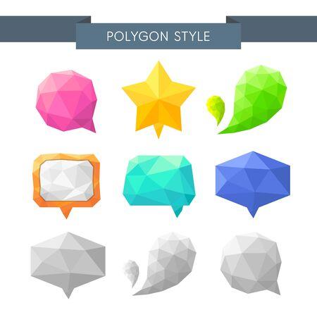illust: Polygon speech bubble icon set