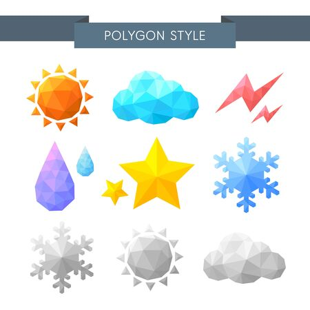 illust: Polygon weather icon set