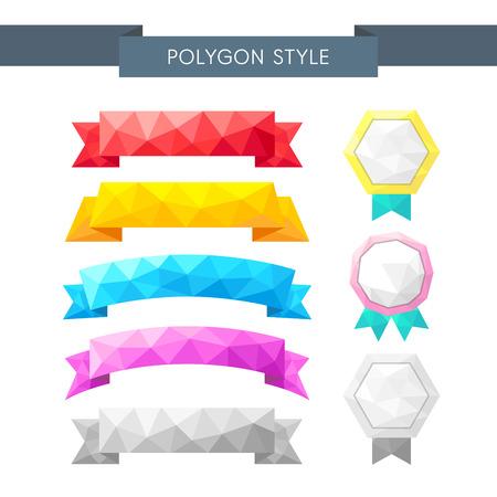 illust: Polygon label icon set