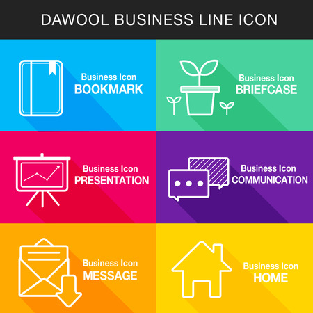 backstop: Business line Icon set