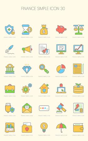バンキング: Banking Icon set  イラスト・ベクター素材