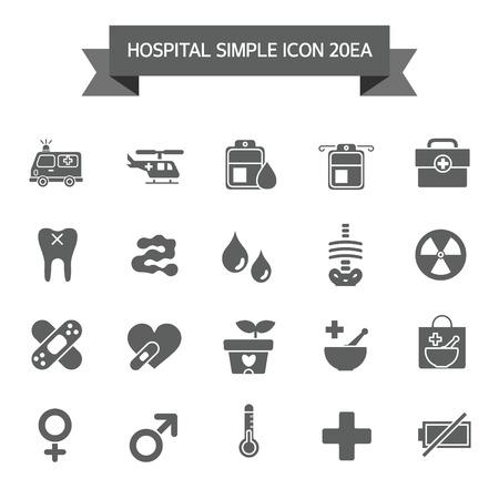 eye bandage: Hospital Icon set