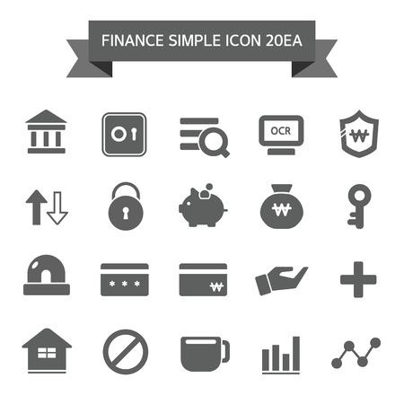 bargraph: Financial icon Set Illustration