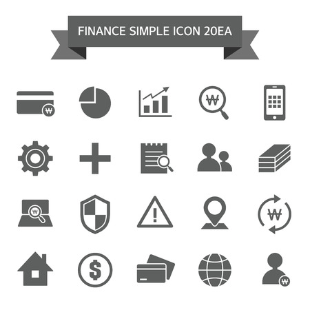 goldbar: Finance icon set Illustration