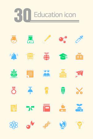 prodigy: Education Icon set Illustration