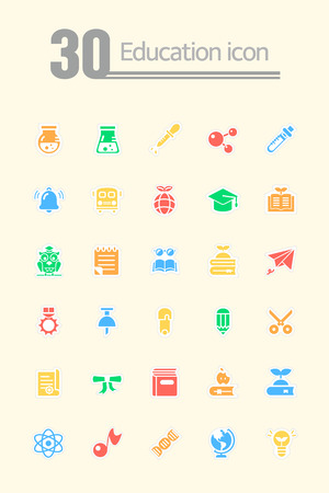 Prodigy: Zestaw ikon edukacji Ilustracja