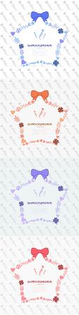 chaplet: flower star shape chaplet templet Illustration