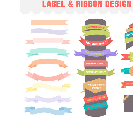 antiquities: Label and ribbon Designvector icon set