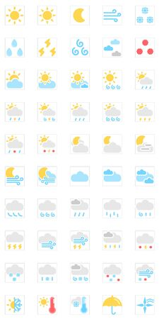 observations: Weather Iconsvector icon set