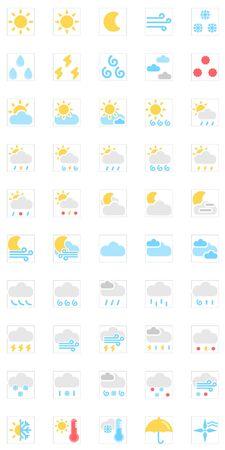 typhoon: Weather Iconsvector icon set
