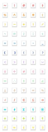 symbol  punctuation: Sign iconvector icon set