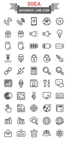 illust: Line icons Business Illustration