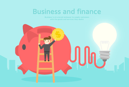 owe: Business and Finance flat design