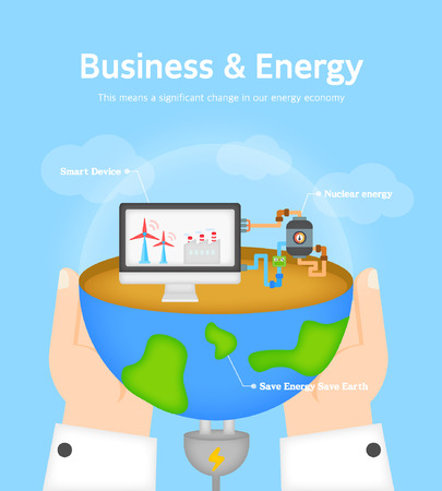 command structure: Business and Energy flat design