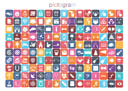 sacraments: flat design pictogram icon set 4