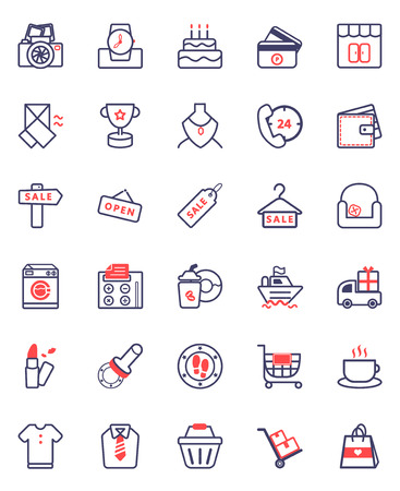 vector illustration of shopping icon package